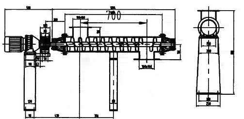 LG细粉螺旋给料机特点:   1、重力称重与螺旋输送方式结合,实现动态连续计量;   2、结构紧凑,运行稳定可靠;   3、自动计量标定系数,自动测量系统零点;   4、手动置入各种参数,运行操作可手动/自动切换;   5、具有仪表自诊断和计算机联网功能。 LG细粉螺旋给料机尺寸图: